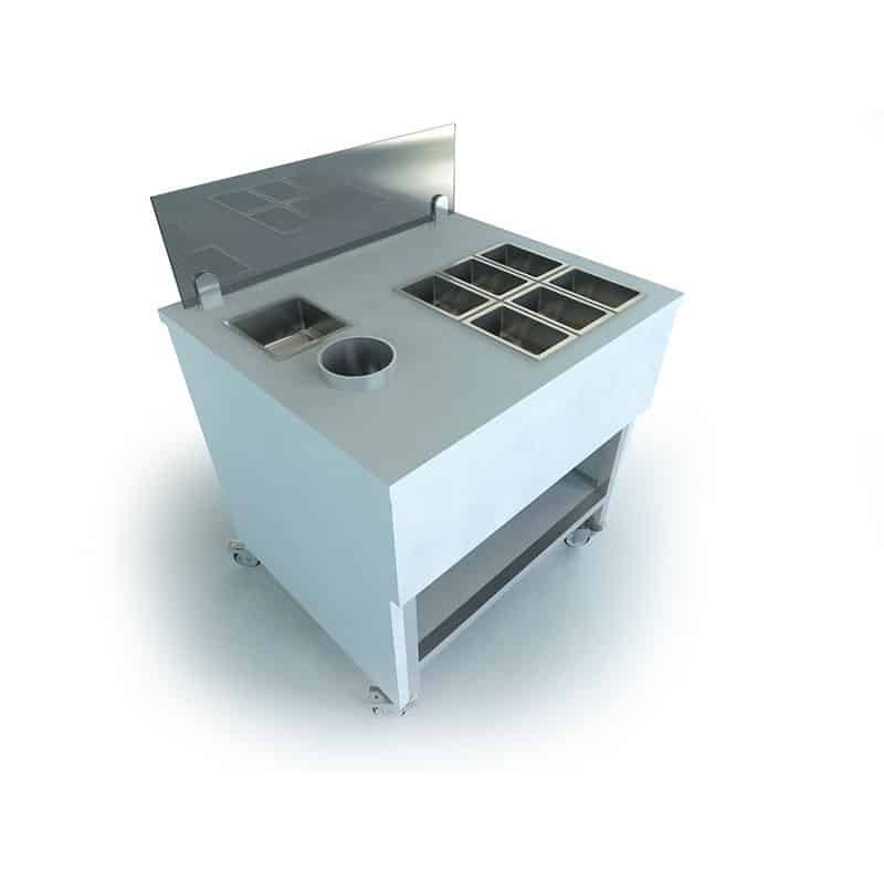 Ice Cream Ingredients Cart • Ice Roll Pro • Ice Plate Machine